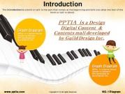 피아노건반과 어린이 템플릿