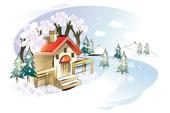 집과 나무 템플릿