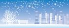눈내리는 겨울풍경 템플릿