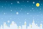 눈오는 겨울밤 템플릿