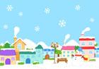겨울풍경 템플릿