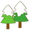눈덮힌 겨울나무 템플릿