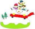 겨울풍경과가족 템플릿