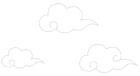 구름문양 템플릿
