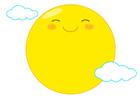 웃고있는 보름달 템플릿
