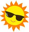 썬글라스 낀 태양 템플릿