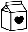 하트 우유 템플릿