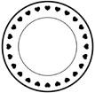 하트문양 접시 템플릿