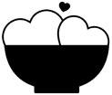 하트와 그릇 템플릿