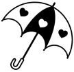 하트우산 템플릿