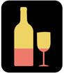 와인과 와인잔 템플릿