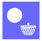 농구공과농구골대그물 템플릿