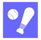 야구공과야구방망이 템플릿