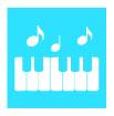 피아노와음표 템플릿
