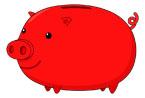 빨간색돼지저금통 템플릿
