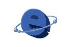 파란색 인터넷 마크 템플릿