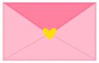 분홍색편지 템플릿