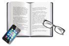 책과 스마트폰 템플릿
