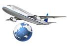 비행기와 지구본 템플릿