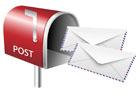 우편함과 편지 템플릿