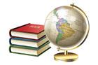 지구본과 책 템플릿