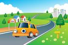 도로 위에 택시 템플릿