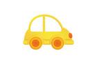 노란색자동차 템플릿