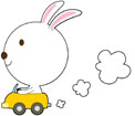 운전하는 토끼 템플릿