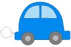 파란 자동차 템플릿