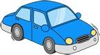 파란색 자동차 템플릿