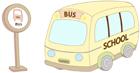 버스표지판과버스 템플릿