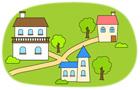 마을과 집 템플릿