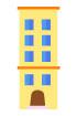 노란색건물 템플릿