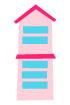 분홍색건물 템플릿