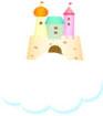 구름과 성 템플릿