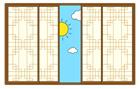 전통창문과 해 템플릿