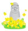 유채꽃과돌하르방 템플릿