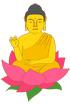부처님과 연꽃 템플릿