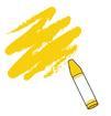 노란색크레파스 템플릿