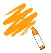 주황색크레파스 템플릿