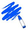 파란색크레파스 템플릿