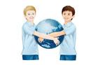 지구본 들고있는 아이들 템플릿