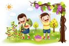 농장체험하는 아이들 템플릿