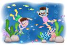 바다속 구경하는 아이들 템플릿