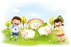 양떼목장의 아이들 템플릿