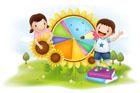 여름방학 생활계획표 짜는 아이들 템플릿