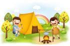 여름캠프하는 아이들 템플릿