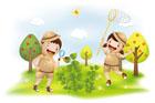 자연체험학습하는 아이들 템플릿
