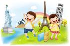 해외여행 가는 아이들 템플릿
