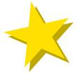 노란색별 템플릿